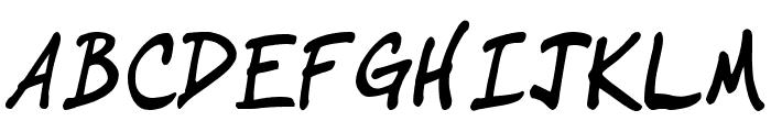 IgniteMe Bold Italic Font UPPERCASE