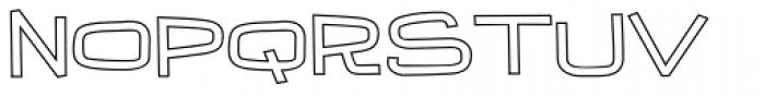 Iguana Lover BTN Wide Outline Font UPPERCASE