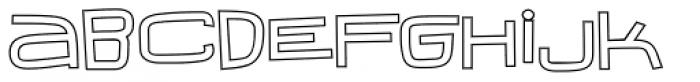 Iguana Lover BTN Wide Outline Font LOWERCASE