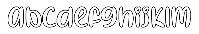 IHeartColoring-Regular Font LOWERCASE