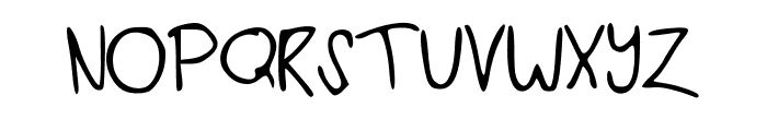 iheartyou Font UPPERCASE