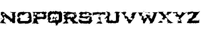 Ikarus Turbulence Font UPPERCASE