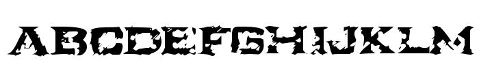 Ikarus Turbulence Font LOWERCASE