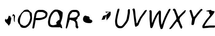 ILikeTurtles Oblique Font UPPERCASE
