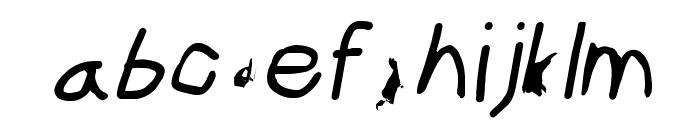 ILikeTurtles Oblique Font LOWERCASE