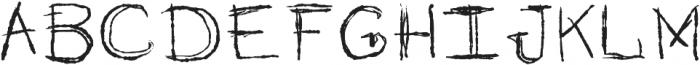 Imperfection Regular otf (400) Font UPPERCASE