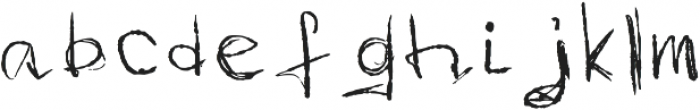 Imperfection Regular otf (400) Font LOWERCASE