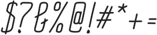 Impreciso Light Italic otf (300) Font OTHER CHARS