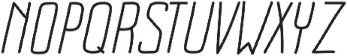 Impreciso Light Italic otf (300) Font UPPERCASE