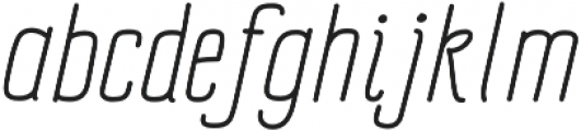Impreciso Light Italic otf (300) Font LOWERCASE