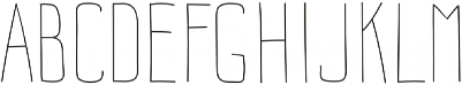 Impreciso Thin otf (100) Font UPPERCASE