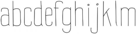 Impreciso Thin otf (100) Font LOWERCASE