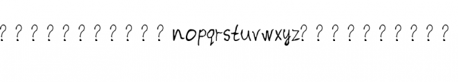 Image Preview Font LOWERCASE