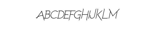 Imagination Alternative Italic.ttf Font UPPERCASE