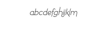 Imagination Alternative Italic.ttf Font LOWERCASE