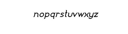 Imagination Bold Italic.ttf Font LOWERCASE