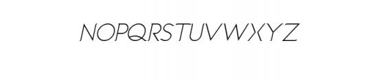 Imagination Italic.ttf Font UPPERCASE