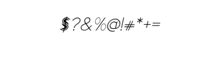 Imagination enhance Italic.ttf Font OTHER CHARS