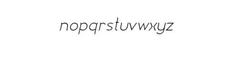 Imagination enhance Italic.ttf Font LOWERCASE