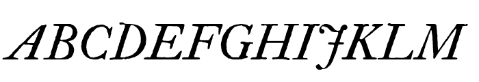 IM FELL Double Pica Italic Font UPPERCASE