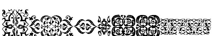 IM FELL FLOWERS 1 Font UPPERCASE