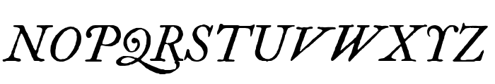IM FELL Great Primer Italic Font UPPERCASE