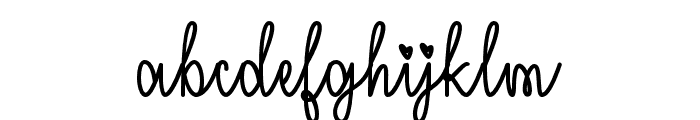 IMissYourKiss Font LOWERCASE