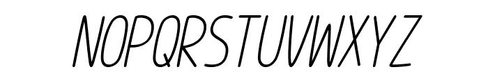 Im Wunderland Italic Font UPPERCASE