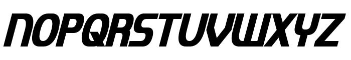 Imaki Condensed Bold Italic Font UPPERCASE