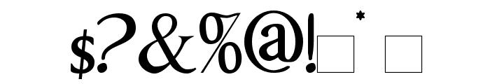 ImperatorSmallCaps Font OTHER CHARS