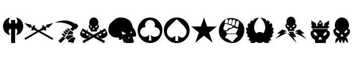 Imperial Symbols Font UPPERCASE