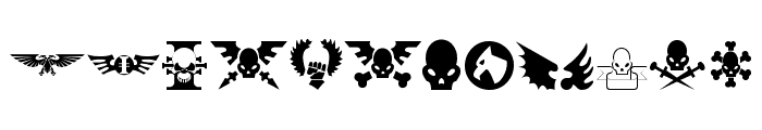 Imperial Symbols Font LOWERCASE