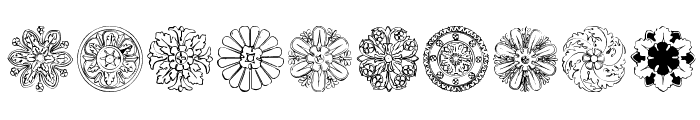 ImperioRomano Medium Font OTHER CHARS