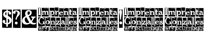Imprenta Gonzales Font OTHER CHARS