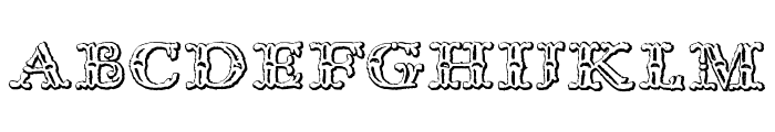 Imprenta Royal Nonpareil Beveled Font LOWERCASE