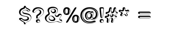 Impressed Metal Font OTHER CHARS
