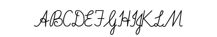 Imrans School Italic Font UPPERCASE