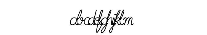 Imrans School Italic Font LOWERCASE