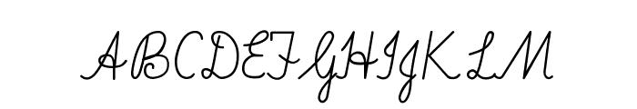Imrans School Font UPPERCASE