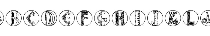 ImresCorrodetCaps Font LOWERCASE