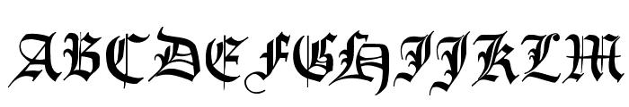 ImresFraktur Font UPPERCASE