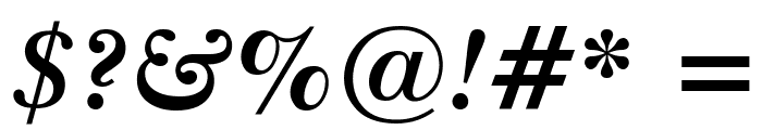 Imperial Bold Italic Font OTHER CHARS