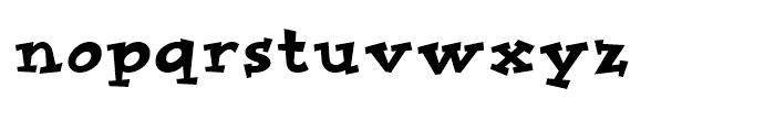 Improv Regular Font LOWERCASE