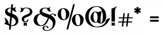 Imperial Granum Ornamental Bold Font OTHER CHARS