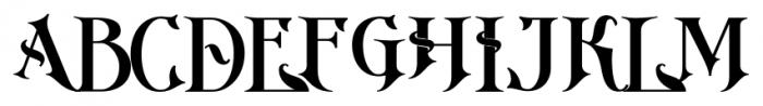 Imperial Granum Ornamental Bold Font UPPERCASE