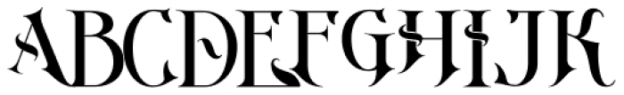 Imperial Granum Ornamental Font UPPERCASE