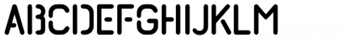 Import Stencil Regular Font LOWERCASE