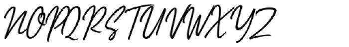 Impressive Italic Font UPPERCASE