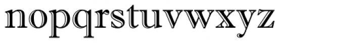 Imprint MT Shadow Font LOWERCASE