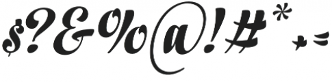 In And Out Bold Italic otf (700) Font OTHER CHARS